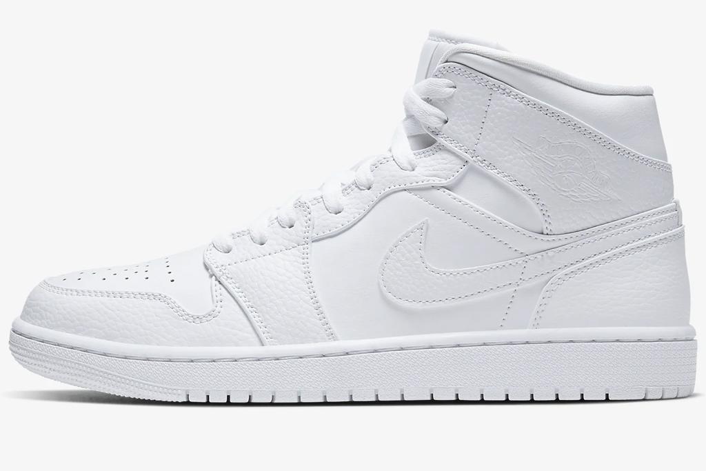 white, high top, sneaker, mid, air jordan, converse, nike