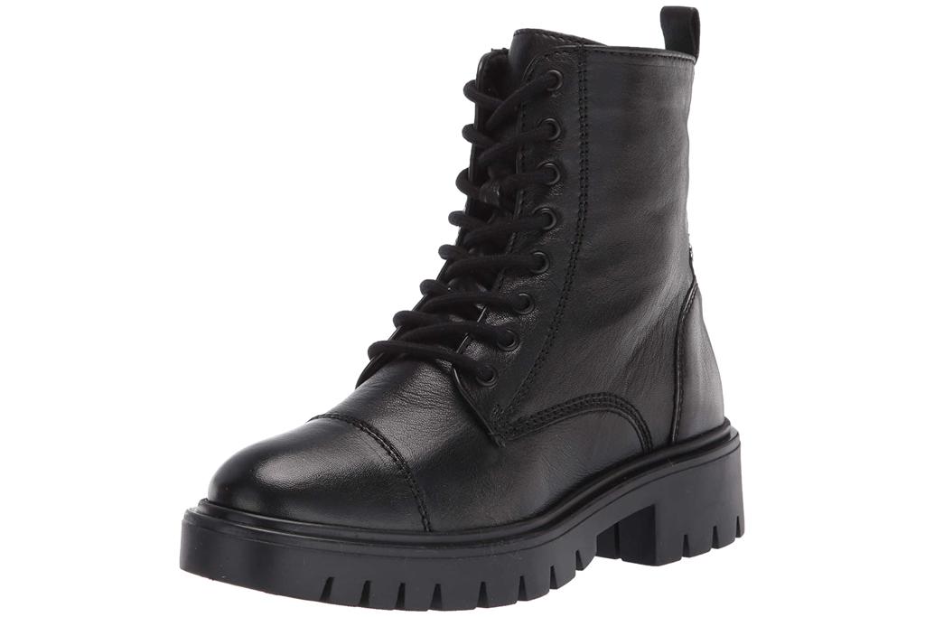 boots, black, combat boots, lace up, aldo