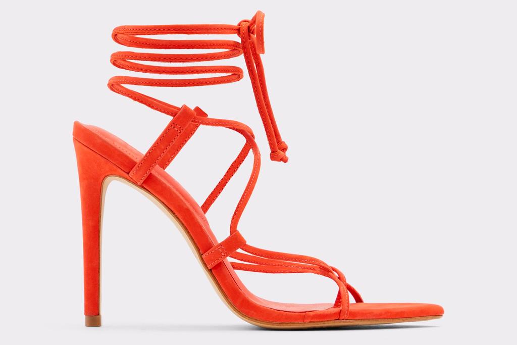 red heels, sandals, aldo