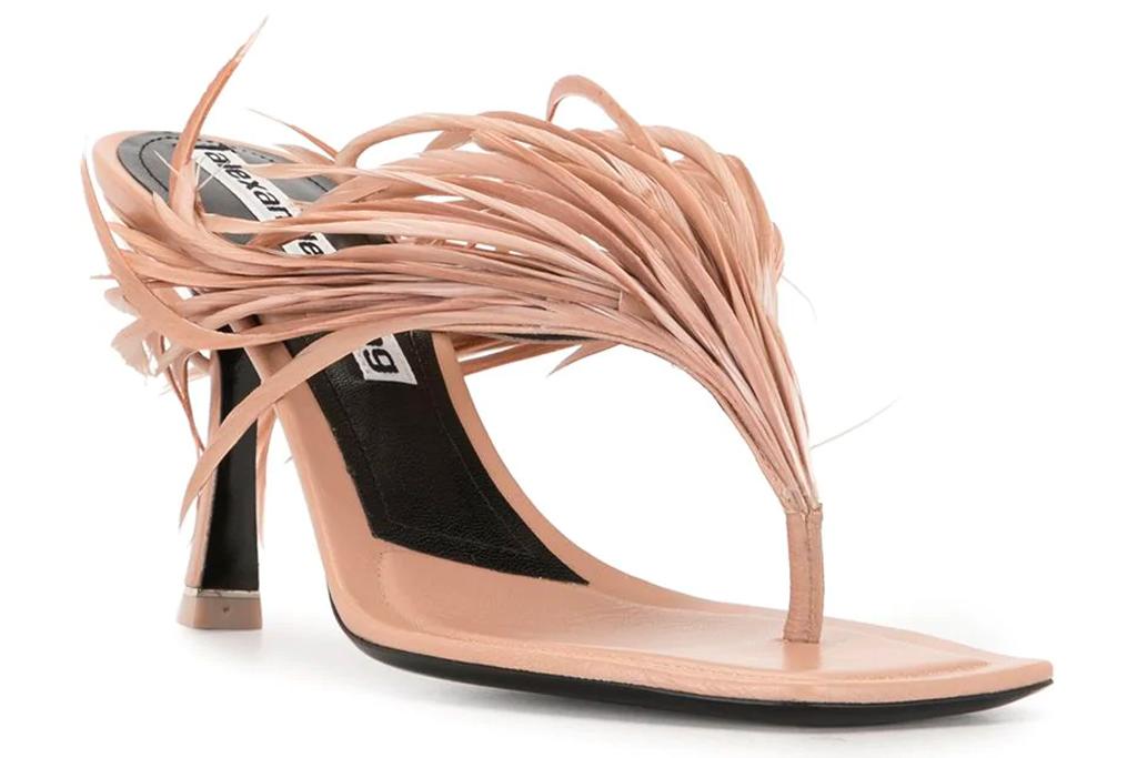 gigi hadid, sandals, thong, toe, shoes, alexander wang