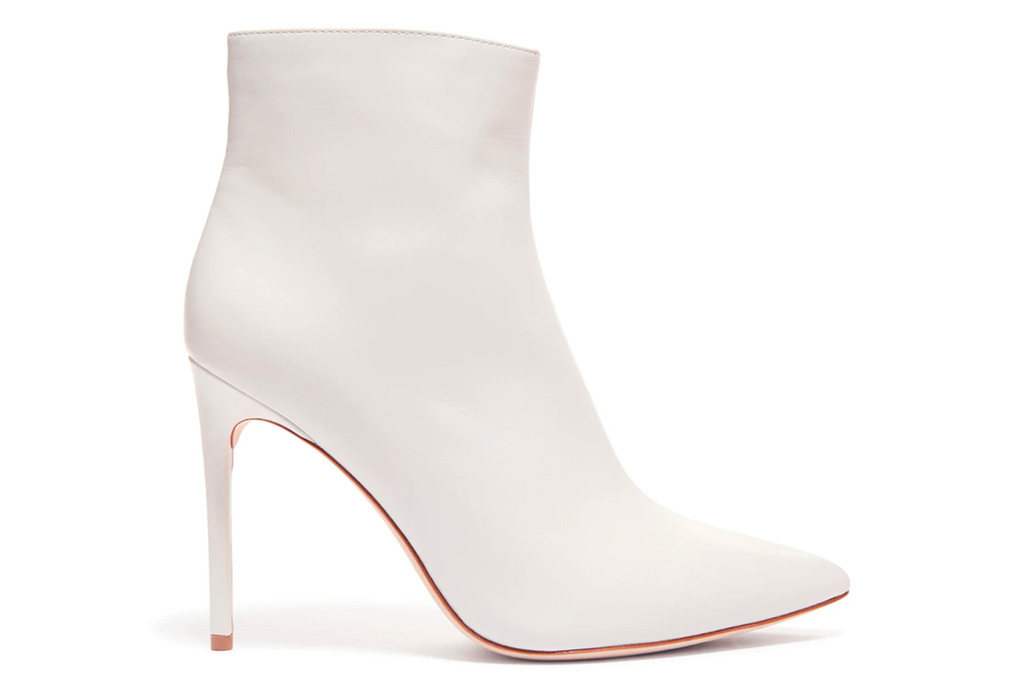 alice olivia, white booties, boots, heels