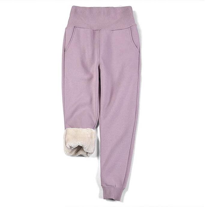 amazon-purple-fleece-leggings