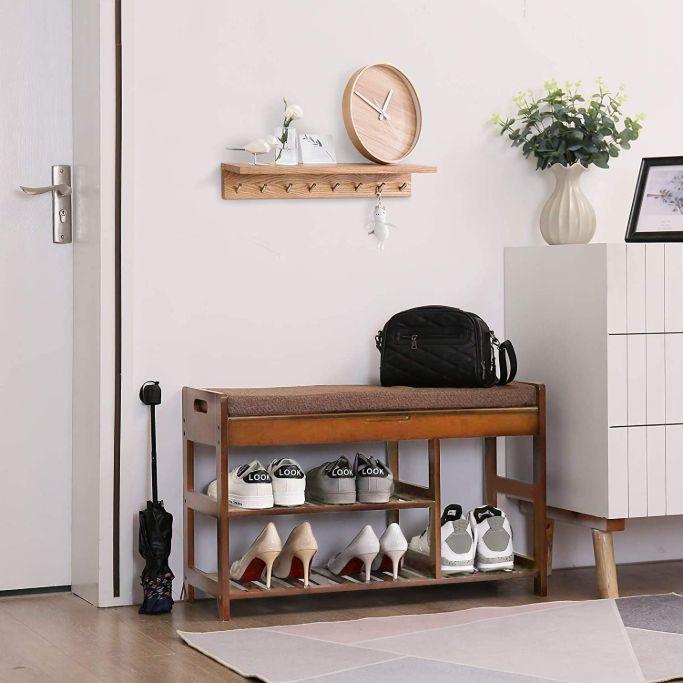 amazon shoe bench organizer