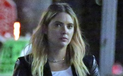 ashley benson, jeans, crop top, shirt,