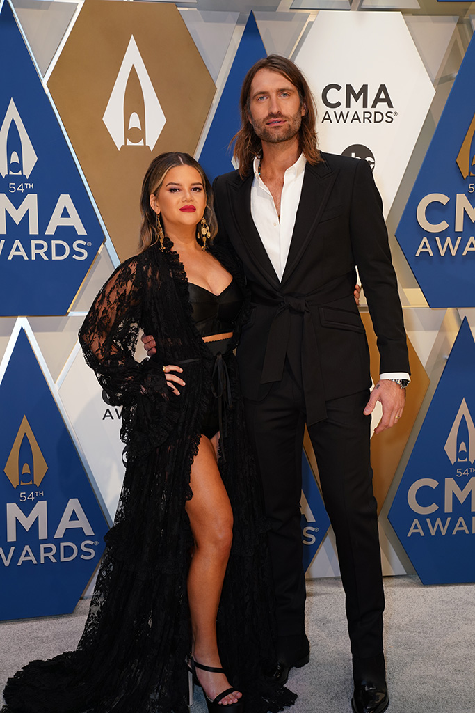 """Maren Morris and Ryan Hurd at """"The 54th Annual CMA Awards"""" on Wednesday, November 11, 2020 at Music City Center in Downtown Nashville."""