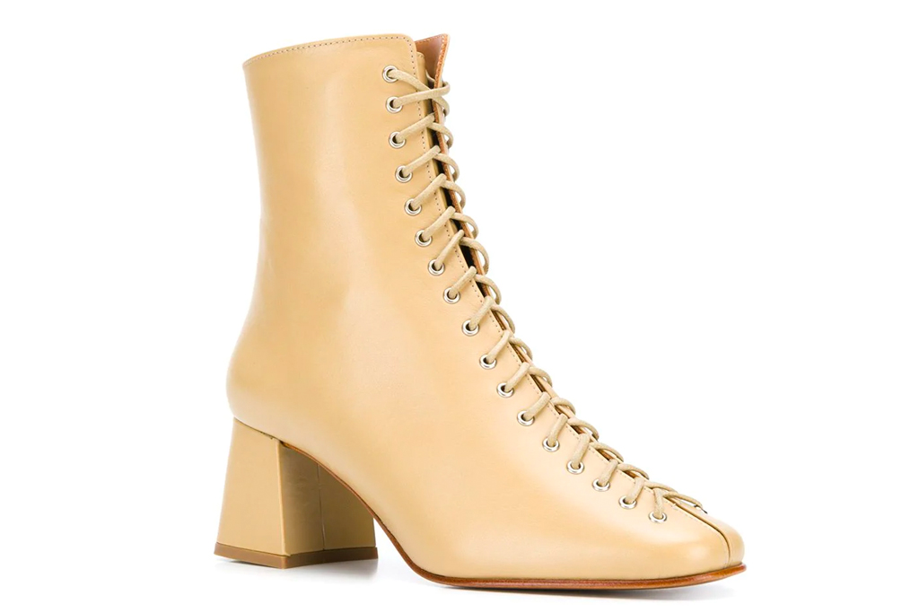 lace-up boots, boots, nude, tan, by far