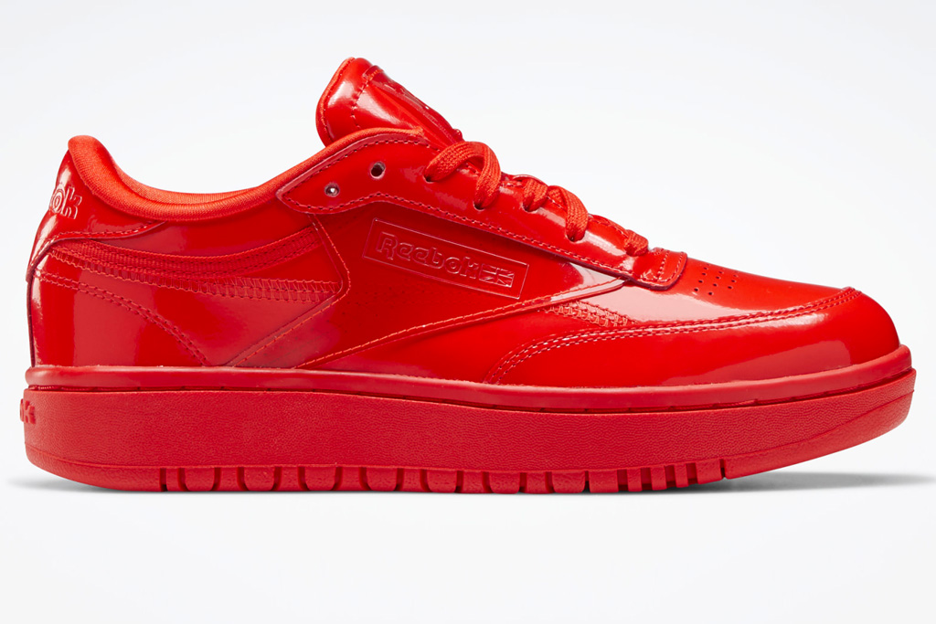 cardi b, reebok, sneakers, red, black, white, club c