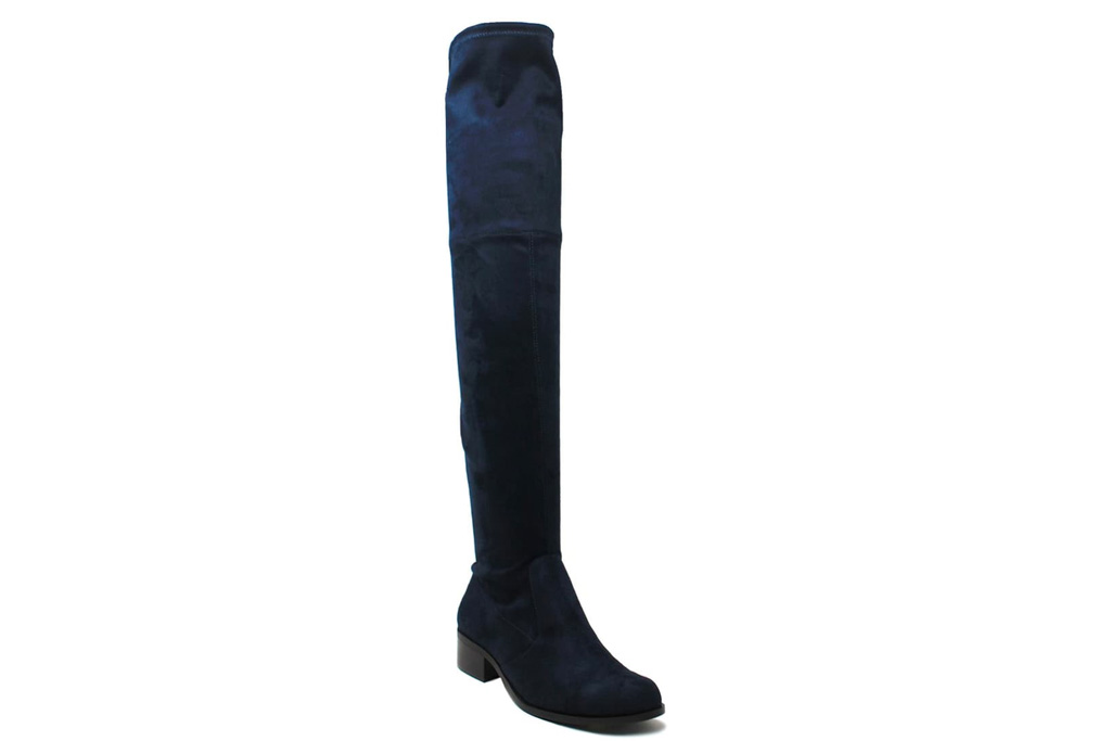 blue boots, suede, tall, charles david