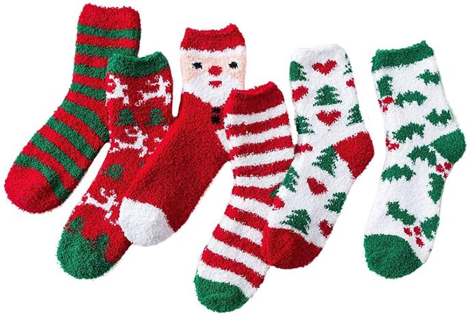 amazon christmas fuzzy socks