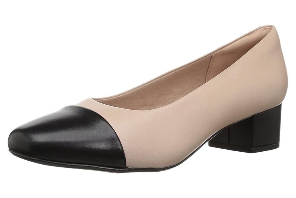 heels, pumps, shoes, cap toe, clarks