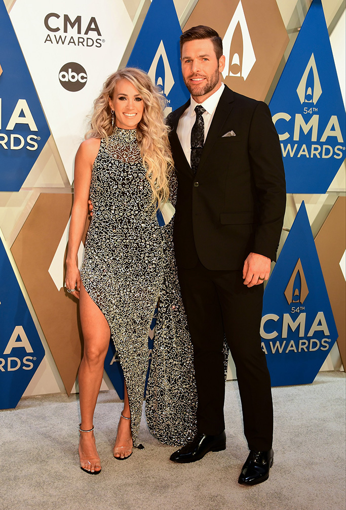 """THE 54TH ANNUAL CMA AWARDS - """"The 54th Annual CMA Awards"""", hosted by Reba McEntire and Darius Rucker aired from Nashville's Music City Center, WEDNESDAY, NOV. 11 (8:00-11:00 p.m. EST), on ABC. (ABC)CARRIE UNDERWOOD, MIKE FISHER"""