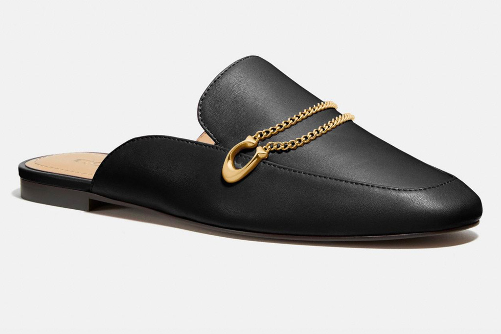 loafers, clogs, mules, black, leather