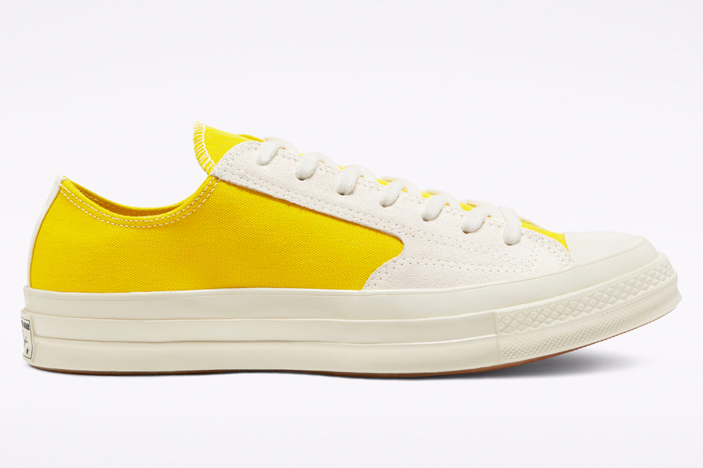 sneakers, yellow, white, low, converse