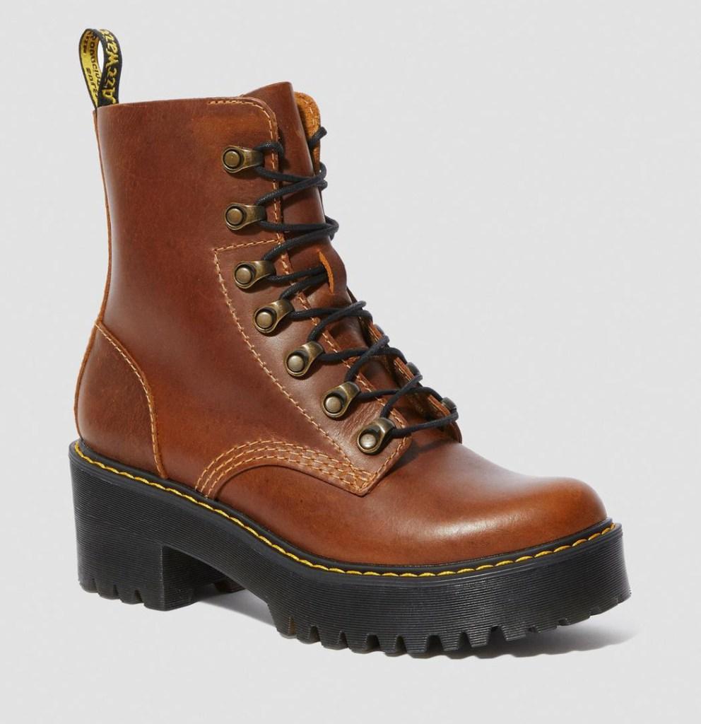 boots, brown, dr martens, doc martens