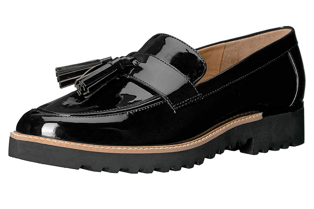 loafers, tassel, black, franco sarto