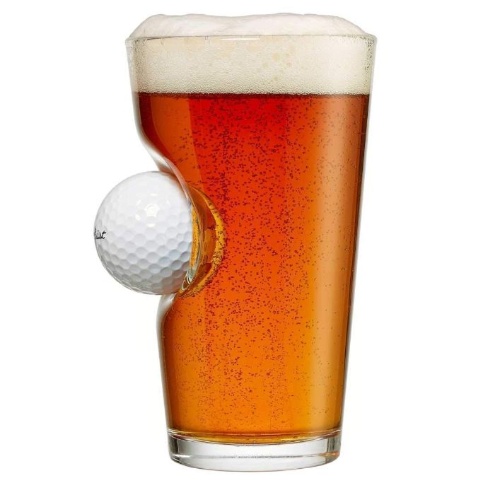 benshot golf ball pint glass