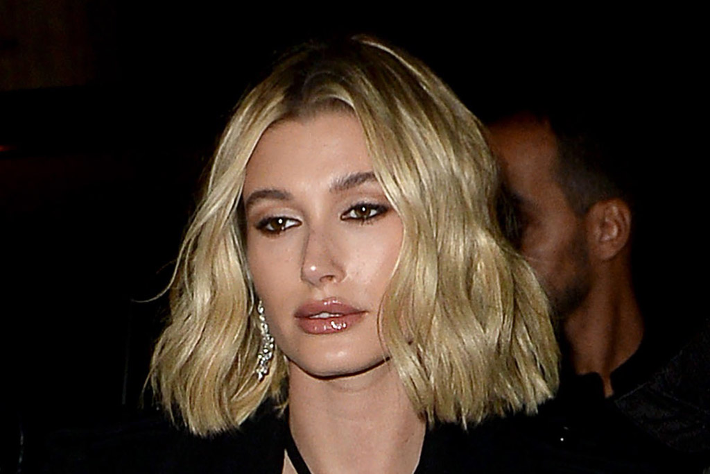 Hailey Baldwin Stuns in Levi's SecondHand Campaign Wearing These Buzzy Yeezy Square-ToeSandals