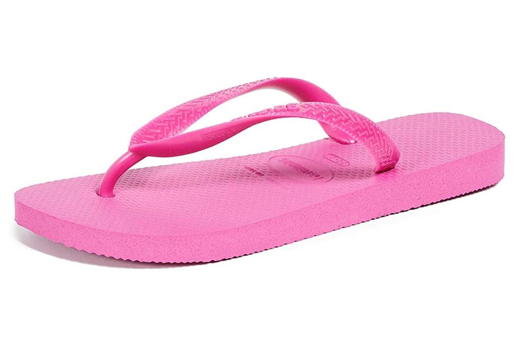 flip flops, sandals, pink, havaianas