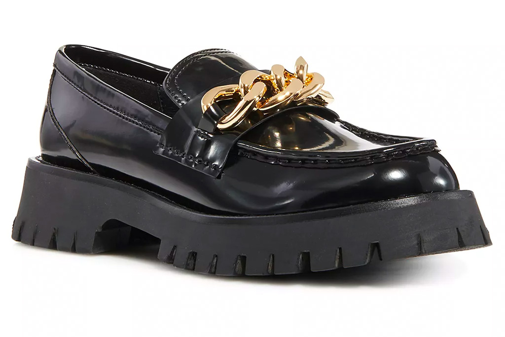 loafers, chunky black, patent, jeffrey campbell