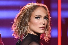 J-Lo Brings the Heat in a Sheer Velvet Catsuit & Lace-Up Heels With Maluma