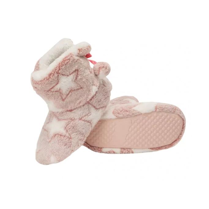 Jessica Simpson Girl's Plush Star Bootie Slippers