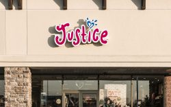 Justice for girls retail clothing store.