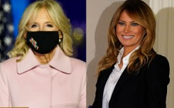melania trump, jill biden, election day