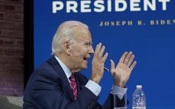 President-elect Joe Biden speaks during a
