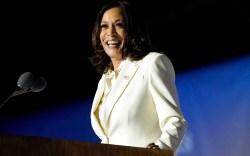 Vice President-elect Kamala Harris speaks Saturday,