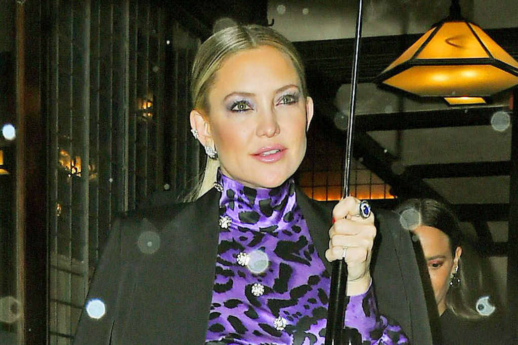 Kate Hudson Goes Boho-Chic in a Floral Dress & Riding Boots for Fall