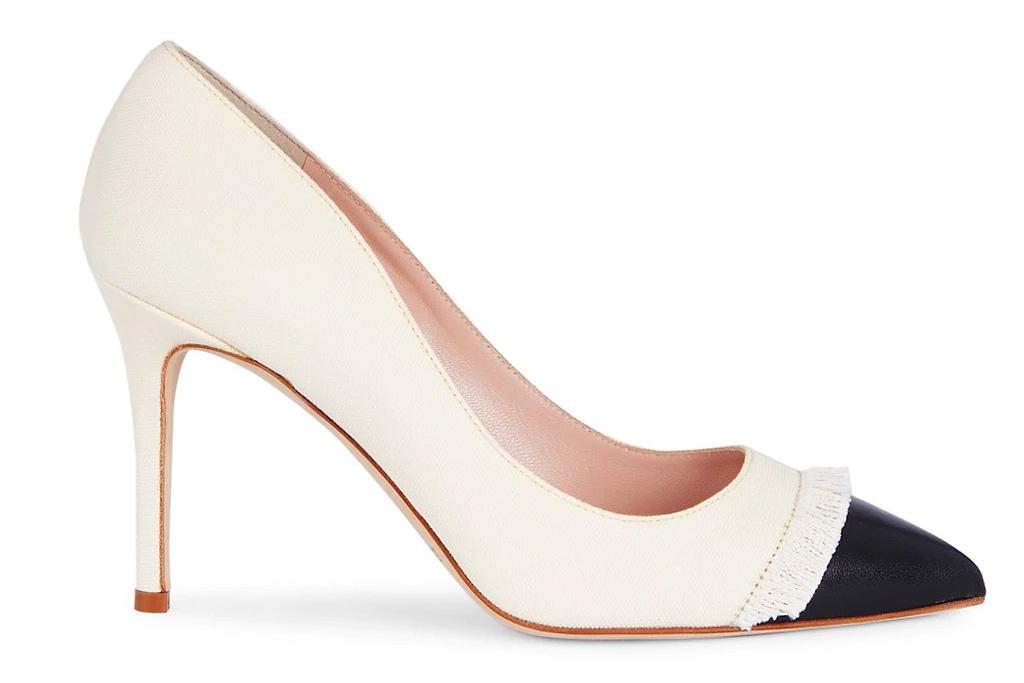 heels, pumps, shoes, cap toe, kate spade