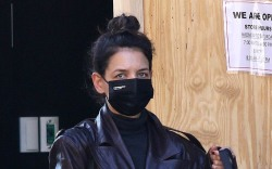 Katie Holmes sports a stylish brown