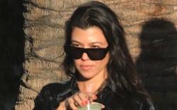 kourtney kardashian, dress, shirt, tights, corduroy,