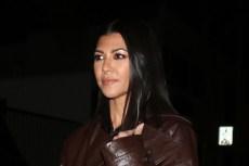Kourtney Kardashian Does the Monochrome Trend in a Cutout Top & Tassel Loafers