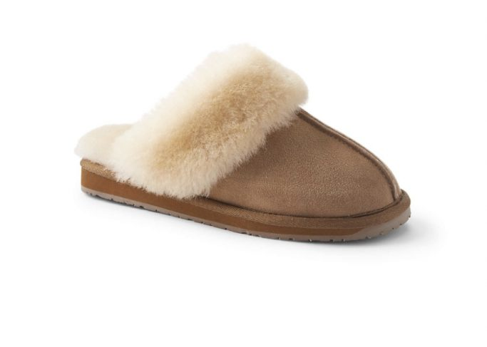 Lands' End Shearling Slippers