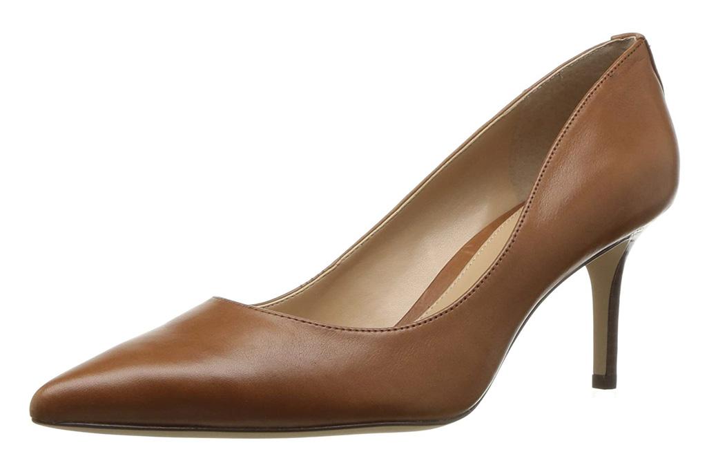 brown pumps, leather, heels, ralph lauren