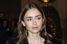 Lily Collins Brings the Runway to Her Backyard in Prada & Her Most Beloved Thigh-High Boots