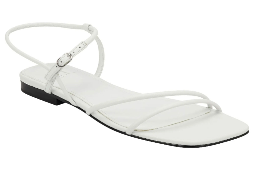 sandals, white, braided, marc fisher