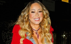 mariah carey, dress, heels, christmas