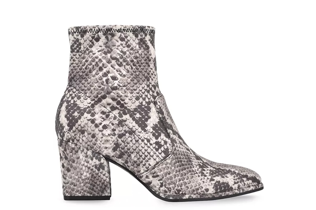 marc fisher boots, snakeskin boots, booties