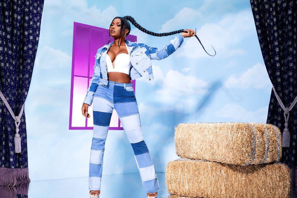megan thee stallion, jeans, fashion nova, collection, collab