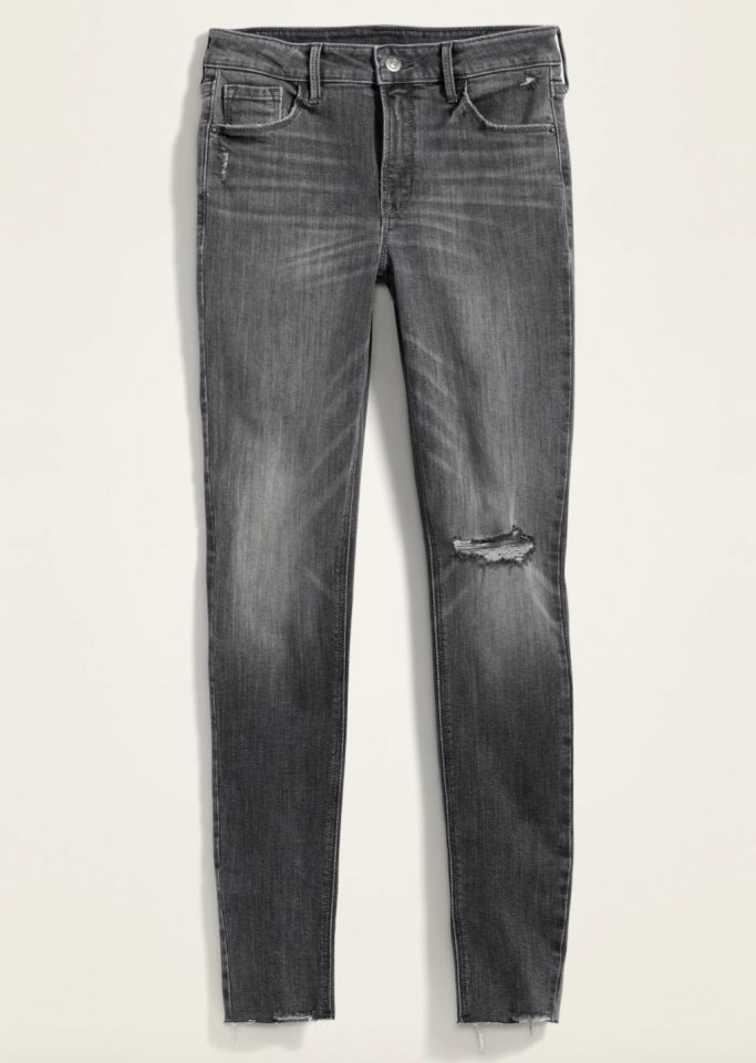 Old Navy Gray Cut-Off Jeans for Women