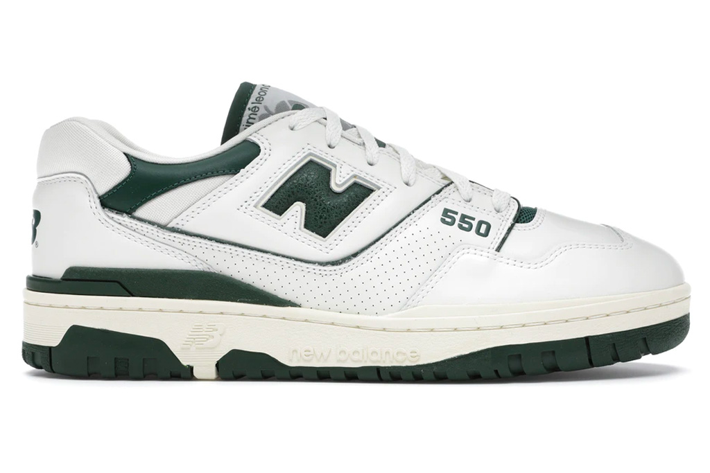 aime leon dore, new balance, 550, green, white