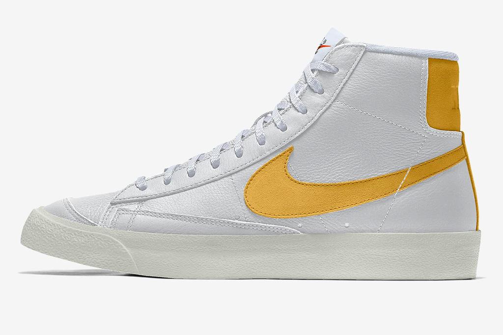 sneakers, yellow, white, low, high, nike
