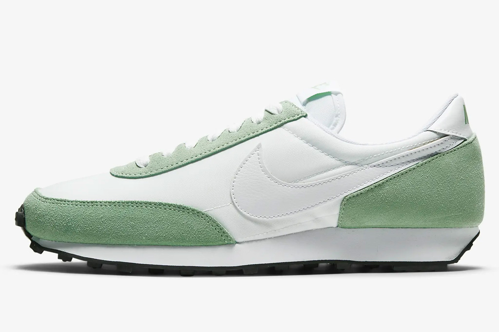 sneakers, green, white, nike
