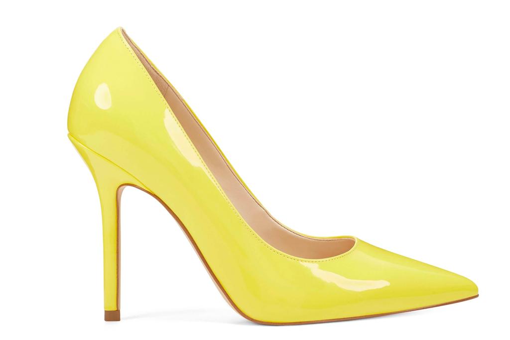 yellow heels, pumps, shoes,
