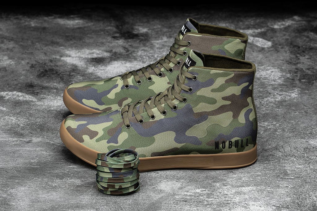 Nobull High-Top Forest Camo Canvas Trainer