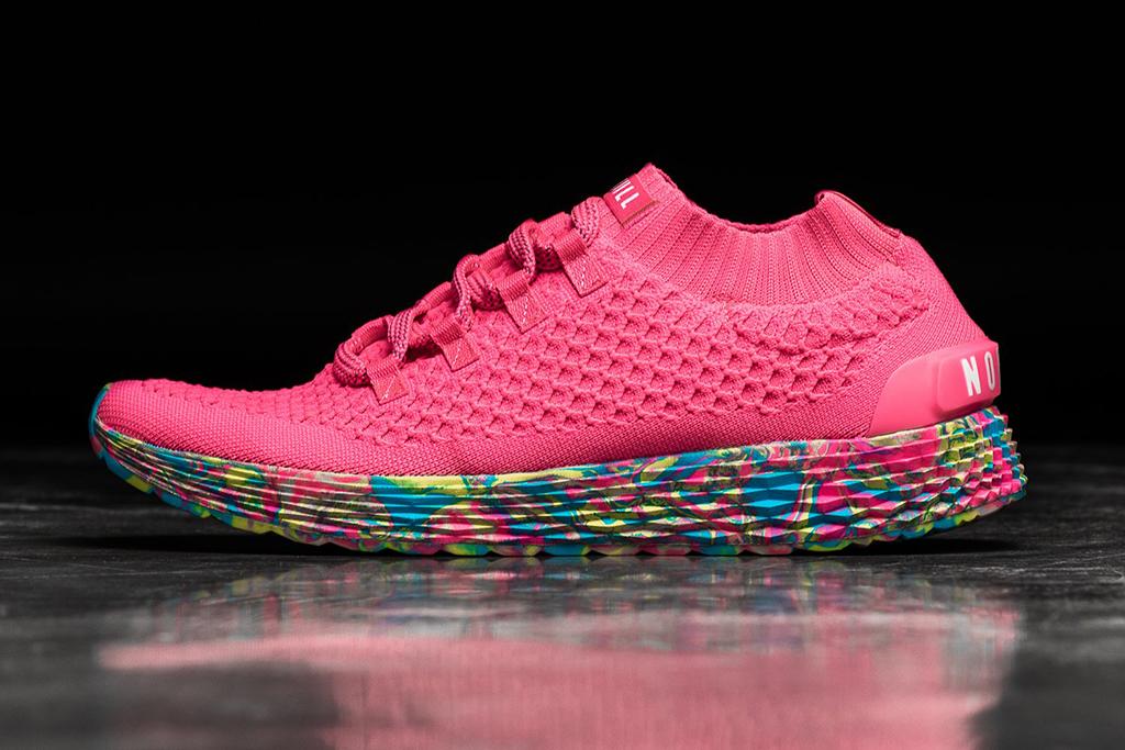 Nobull Neon Pink Swirl Knit Runner