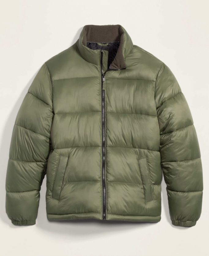 Old Navy Green Puffer Jacket