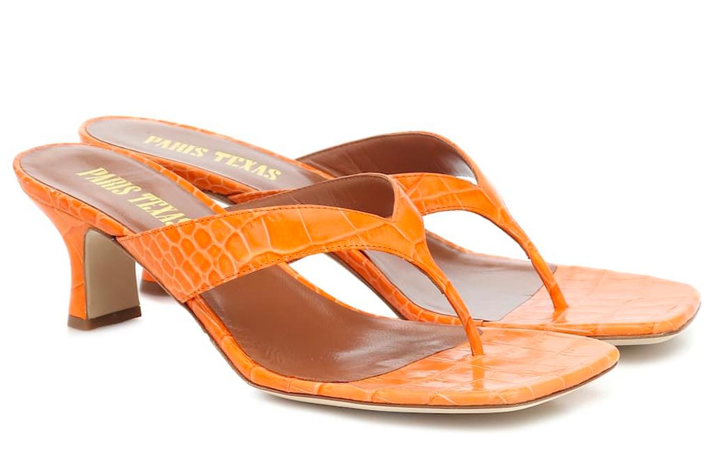 thong sandals, heels, paris texas